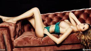 Fake Tits Blonde Girl Striptease And Masturbation